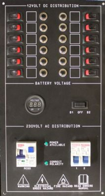 ACDC PANEL WITH VOLTMETER